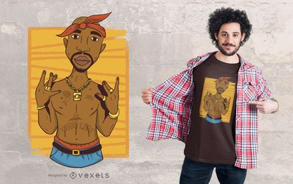 Diseño de camiseta Tupac