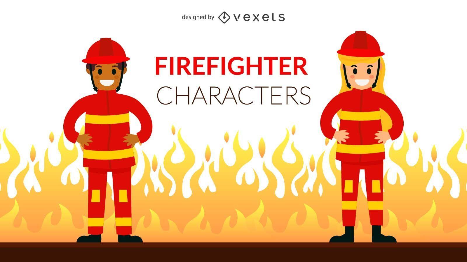 Firefighter Character Set