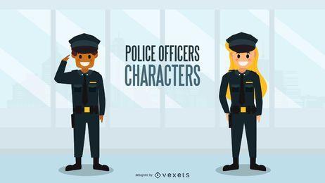 Polizeibeamte Charaktere