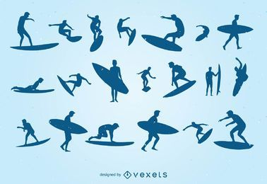 Cool Surfing Silhoutte Set