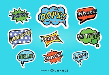 Speech Balloon Sticker Set