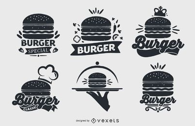 Burger-Logo-Sammlungssatz