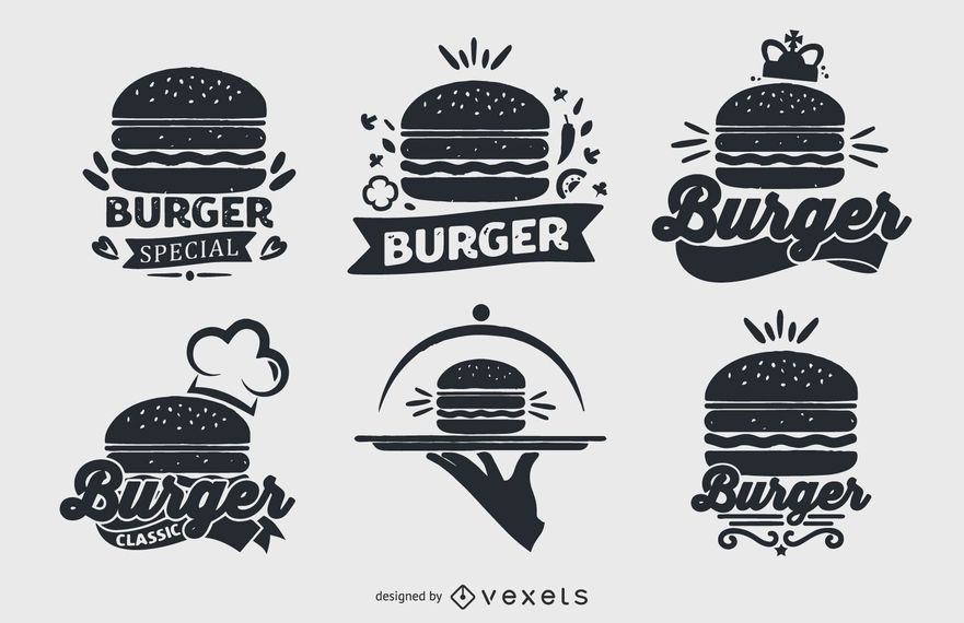 Burger logo collection set
