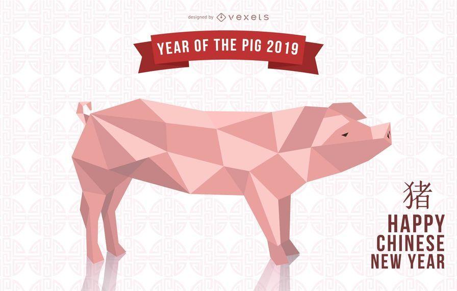 Año del diseño del cerdo 2019.