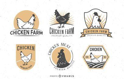 Conjunto de insignias de pollo