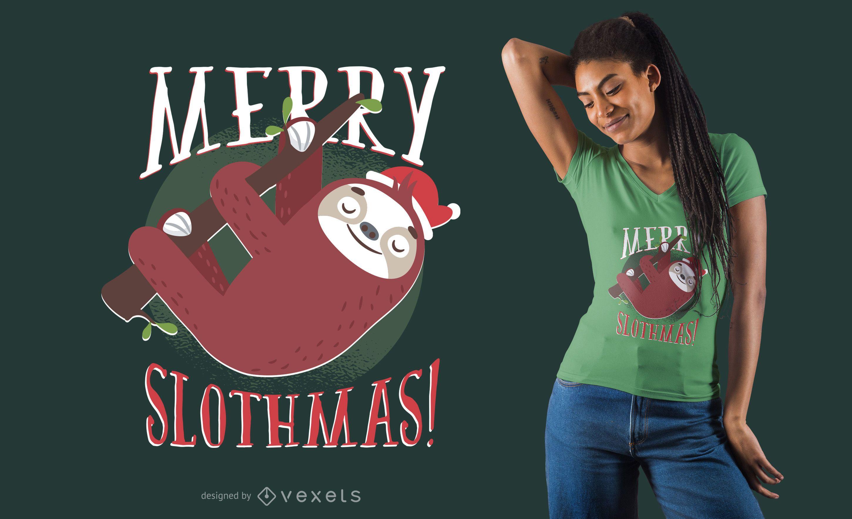 Sloth Christmas T-Shirt Design