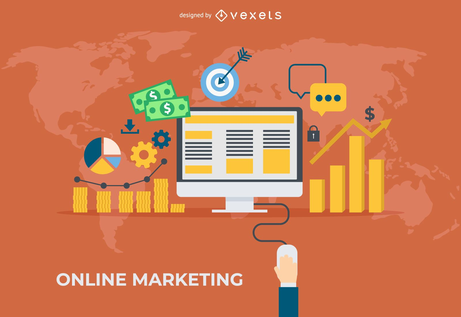 Banner de marketing online