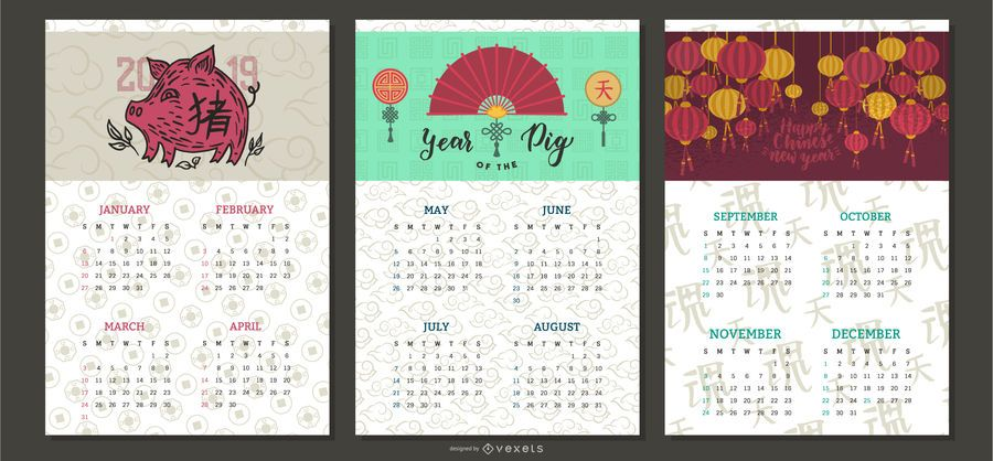 Chinese New Year Calendar 2019