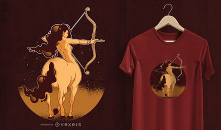 Sagittarius Women T-Shirt Design