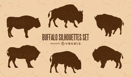 Buffalo Silhouette Set