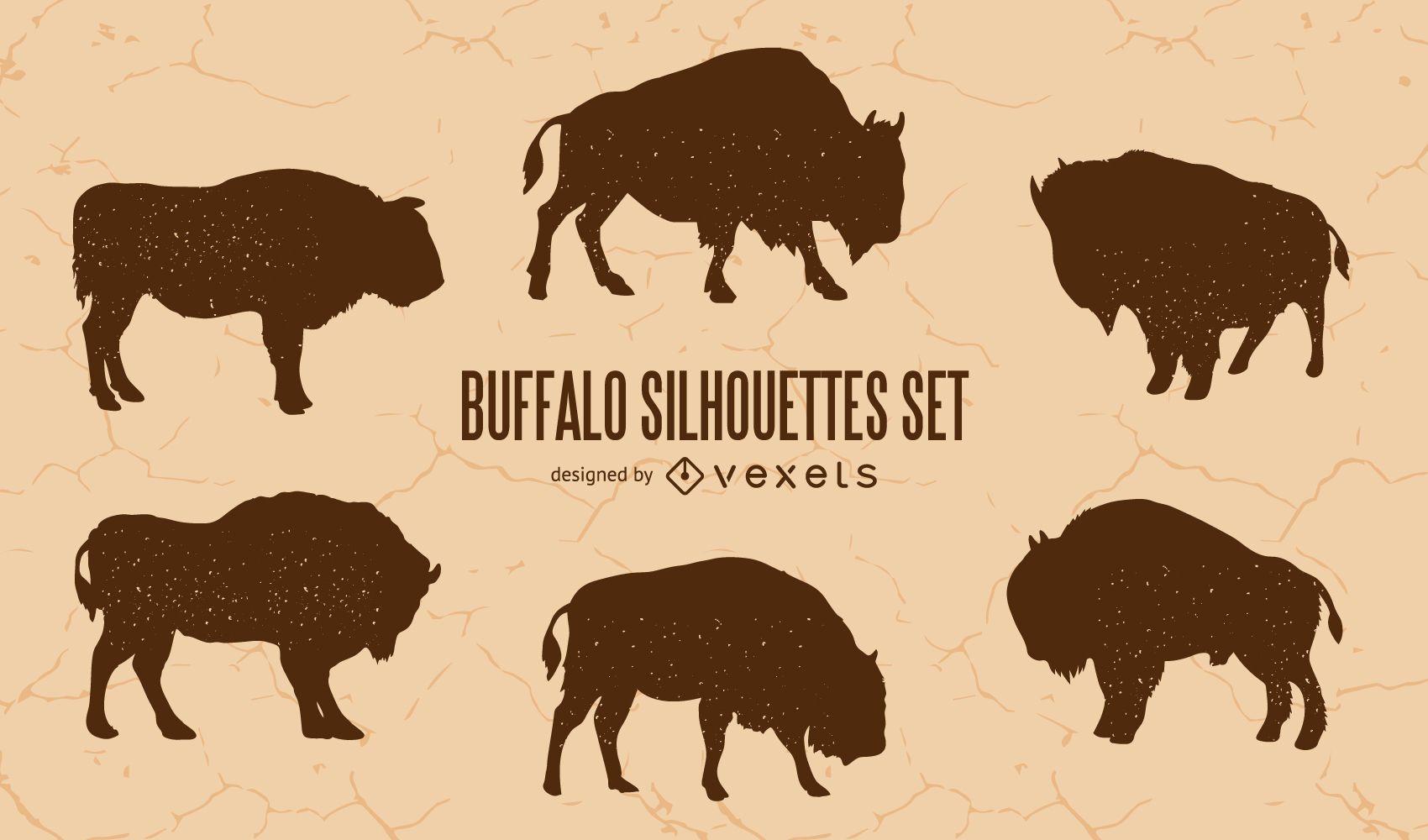 Buffalo Silhouette Set