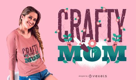 Crafty Mom T-Shirt Design