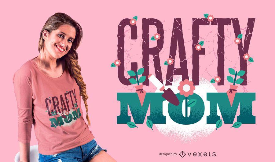 Diseño de camiseta de mamá astuta