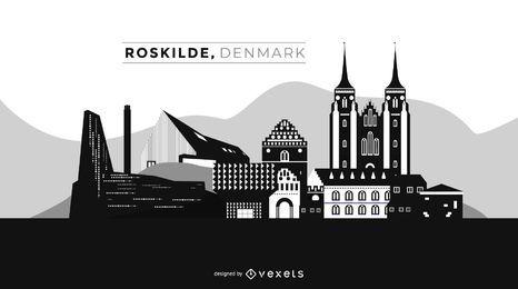 Roskilde, Dänemark, Skyline der Stadt