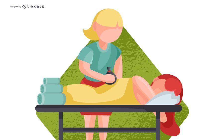 Ilustração de massagem de corpo inteiro Spa