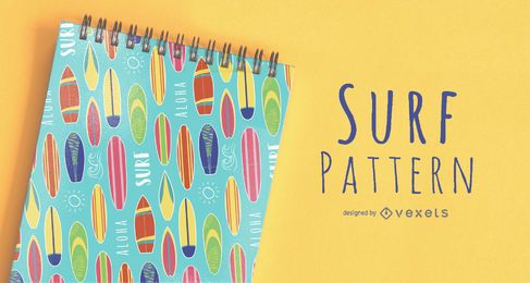 Seamless Surf Pattern