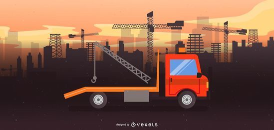 Tow Truck Illustration