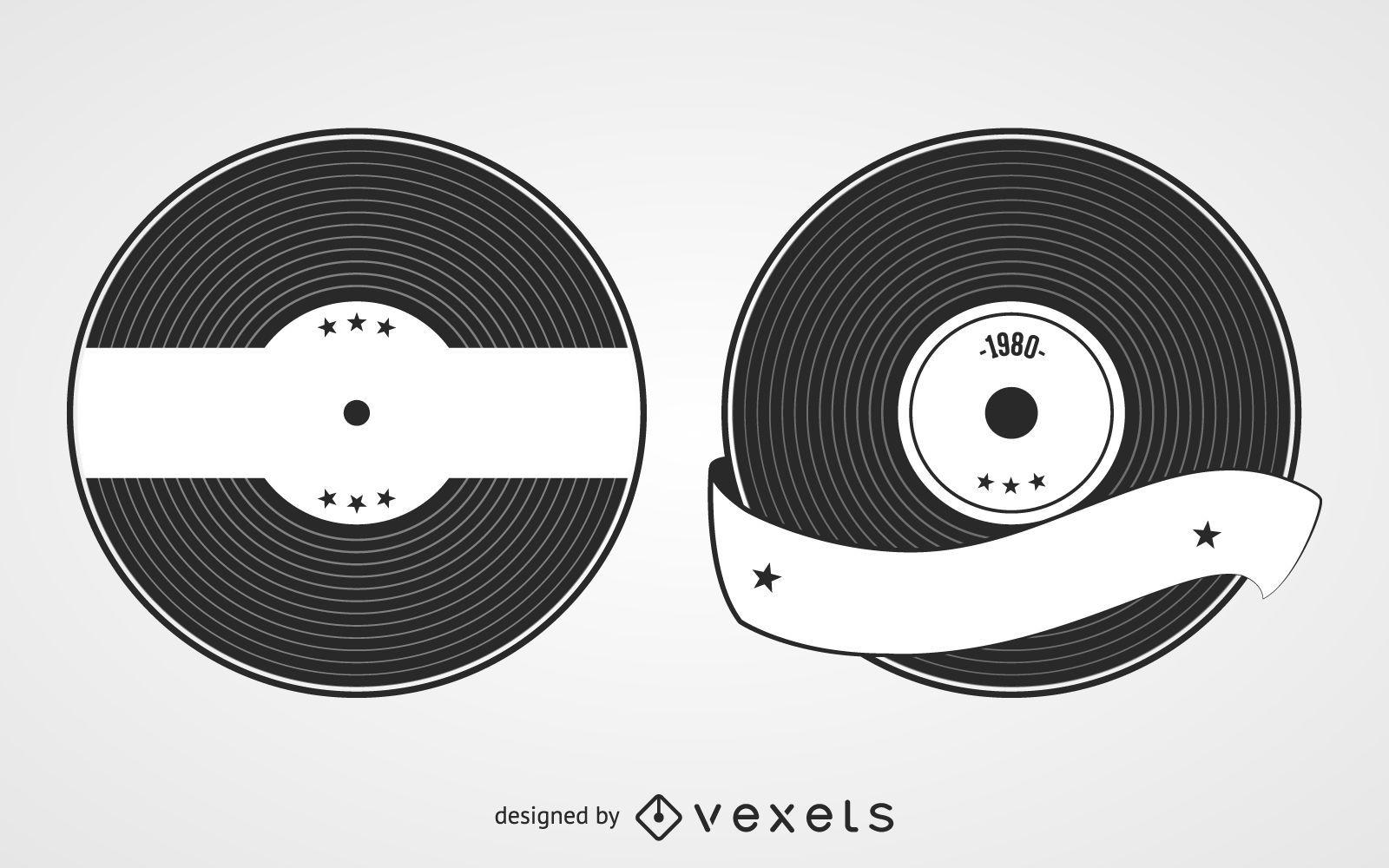 Vynil Record Label