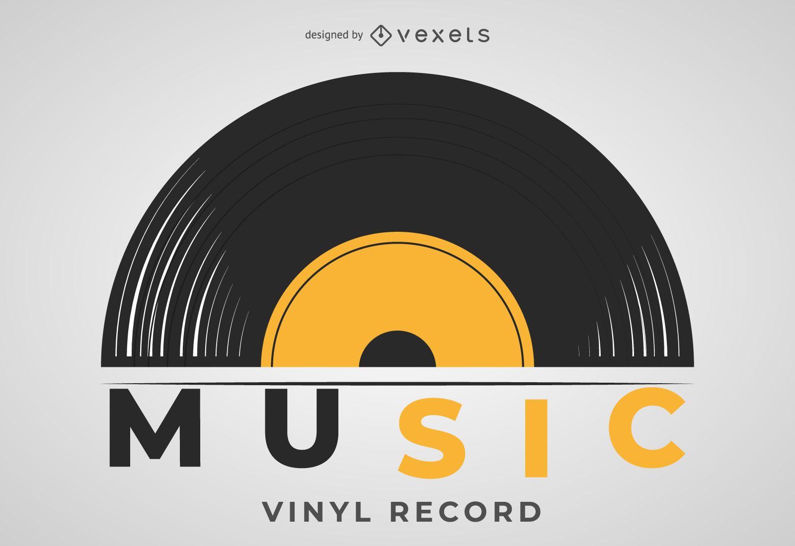 Vinyl Record Illustration