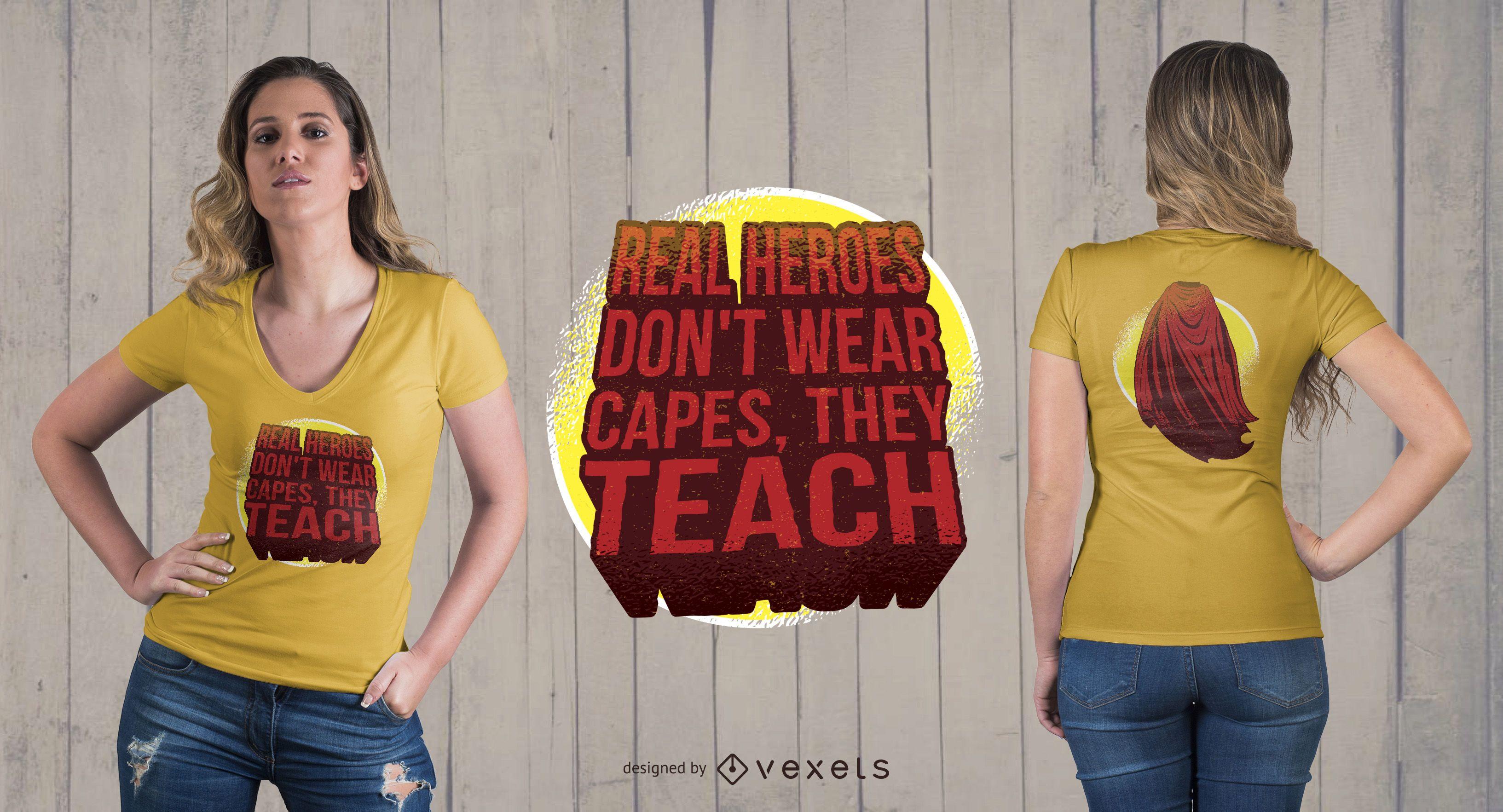 Diseño de camiseta Hero Teachers