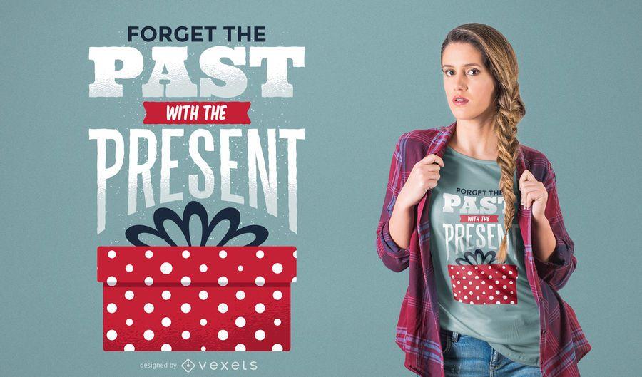 Projeto do t-shirt do presente de Natal