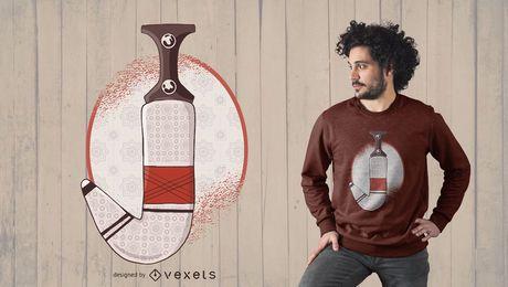 Diseño de camiseta de daga árabe