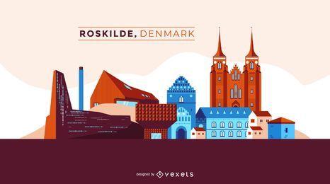 Flache Roskilde Dänemark Skyline