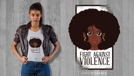 Diseño de camiseta de lucha contra la violencia