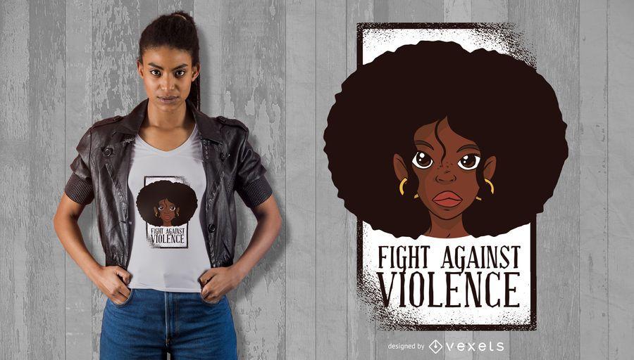 Luta contra o design do t-shirt da violência