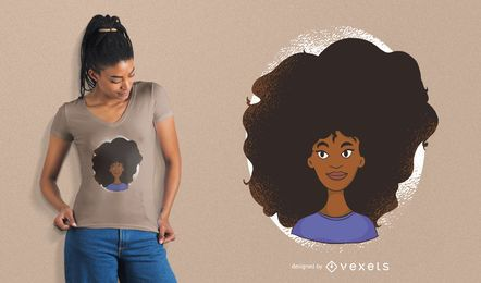 Diseño de camiseta Power de Black Woman