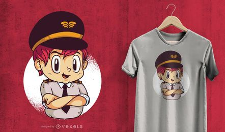 Diseño de camiseta piloto infantil