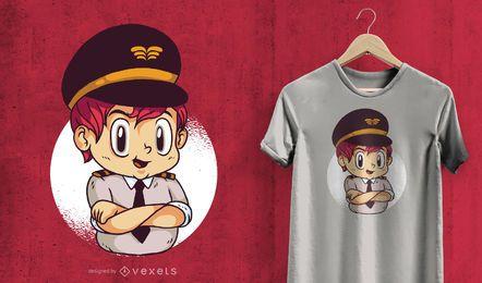 Projeto piloto do t-shirt da criança