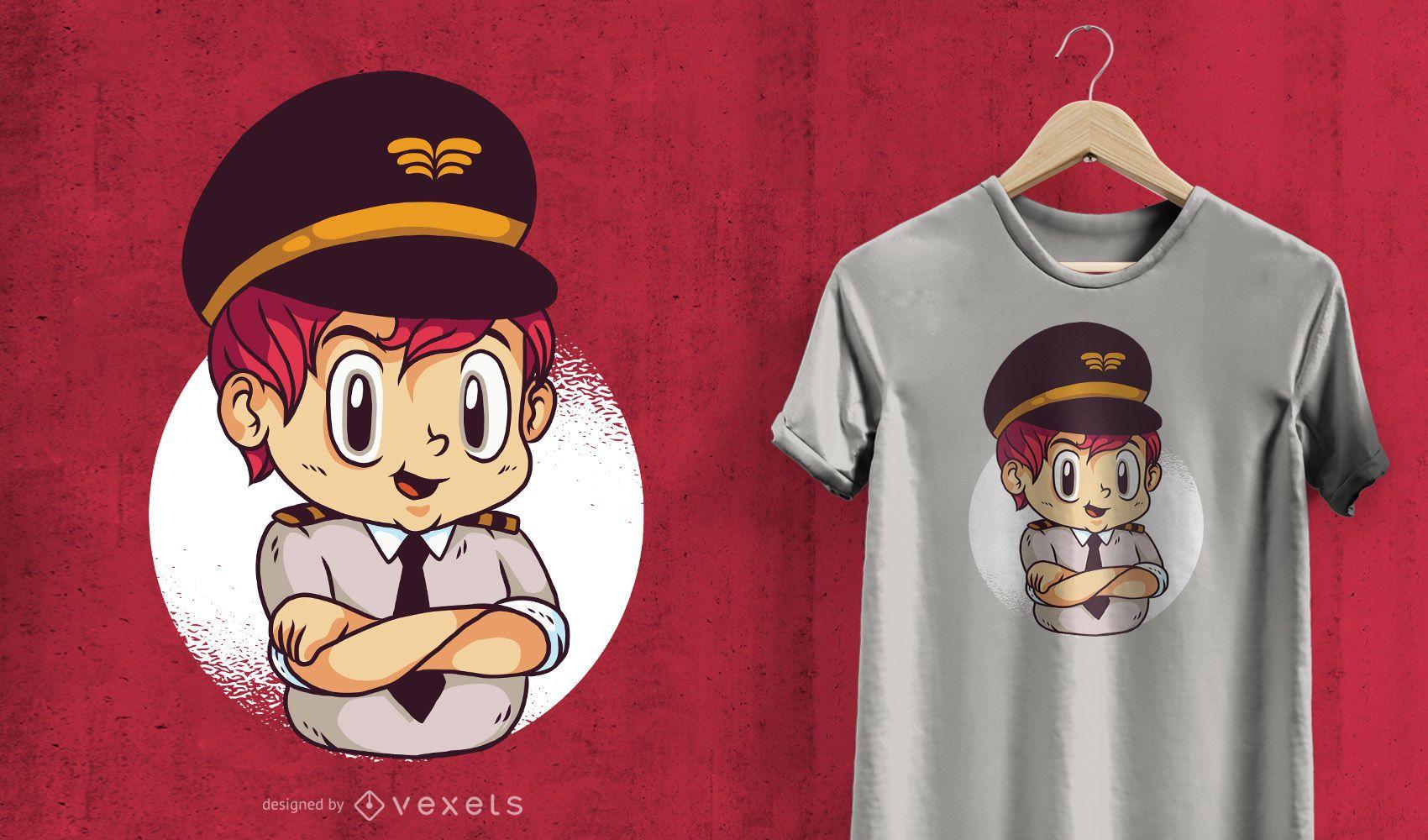Child Pilot T-Shirt Design