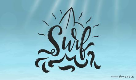 Cool Surf Lettering