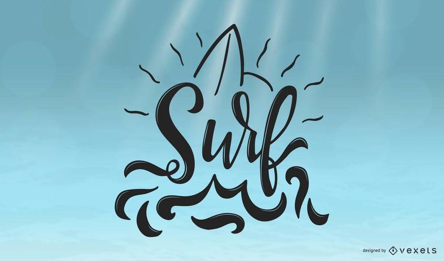 Coole Surf-Beschriftung