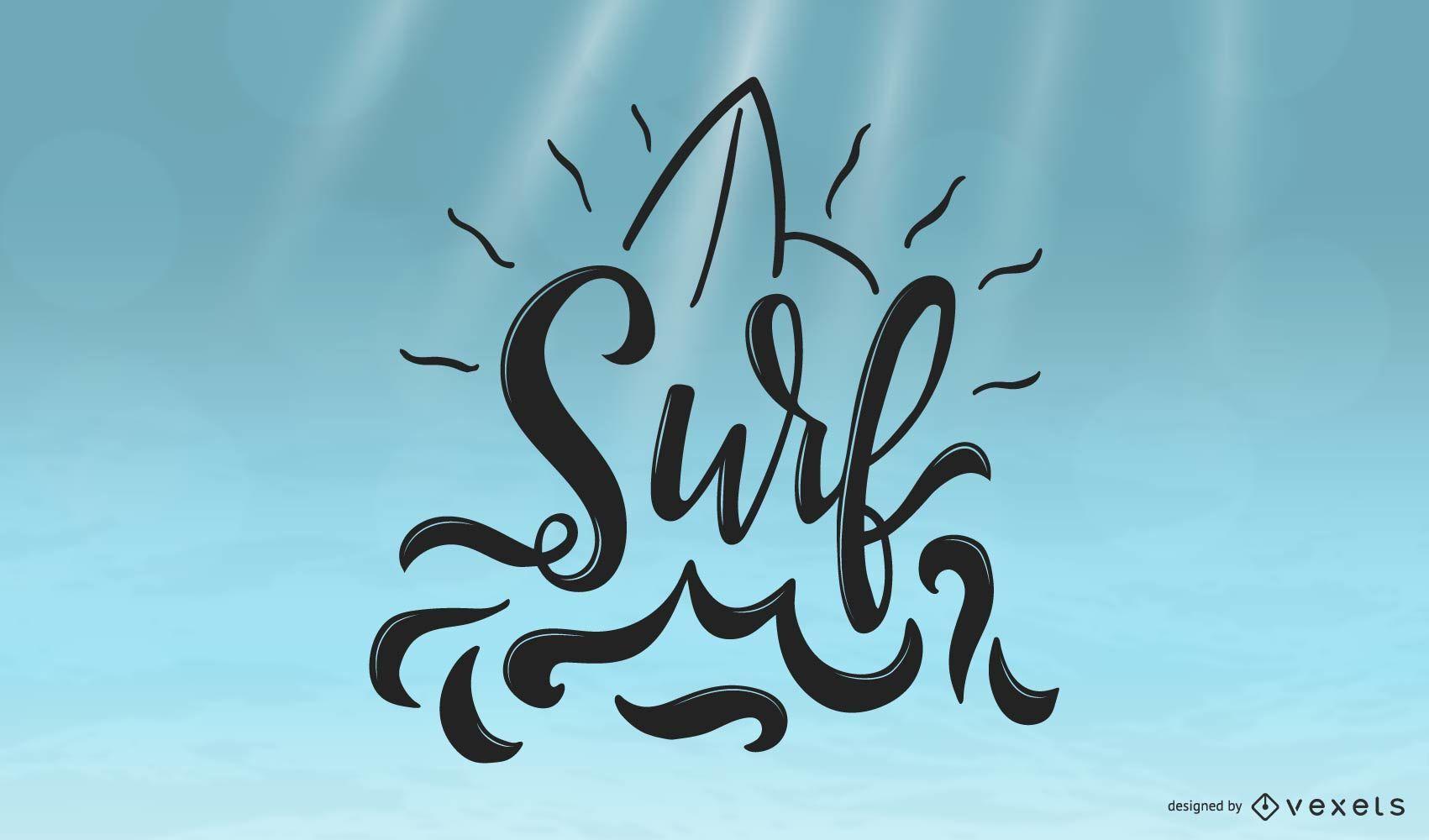 Cool Surf Lettering