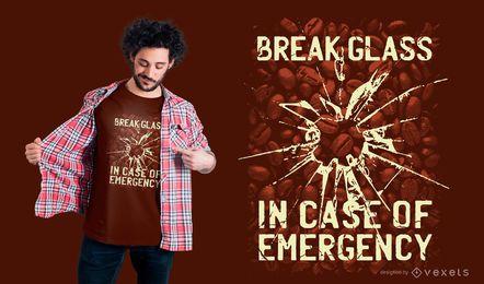 Design de camiseta de vidro de emergência