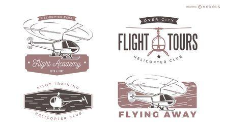 Etiketten für Hubschrauber