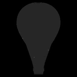 Balão de ar em silhueta de balão de vôo