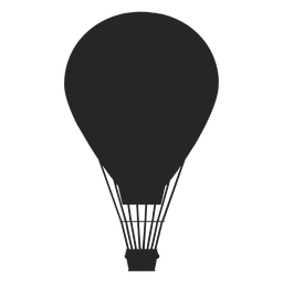Globo aerostático en vuelo globo silueta