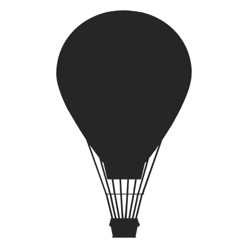 Globo aerostático en vuelo globo silueta Transparent PNG