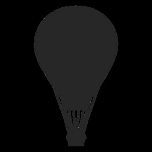 Globo de aire en vuelo silueta de globo