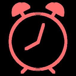 Icono de estilo de línea de reloj despertador