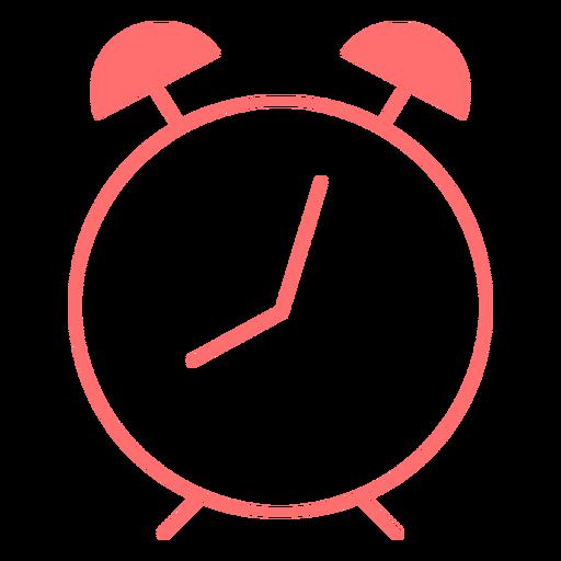 Icono de estilo de línea de reloj despertador Transparent PNG