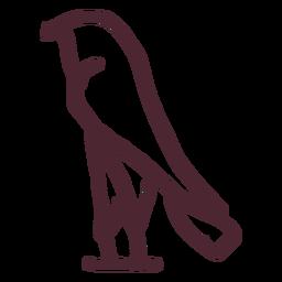 Egipto antiguo símbolo de jeroglíficos de aves