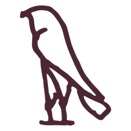 Símbolo de hieróglifos de antigo Egito pássaro