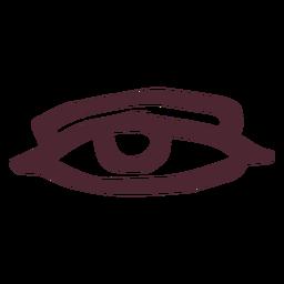 Antiguo símbolo de ojo de egipto