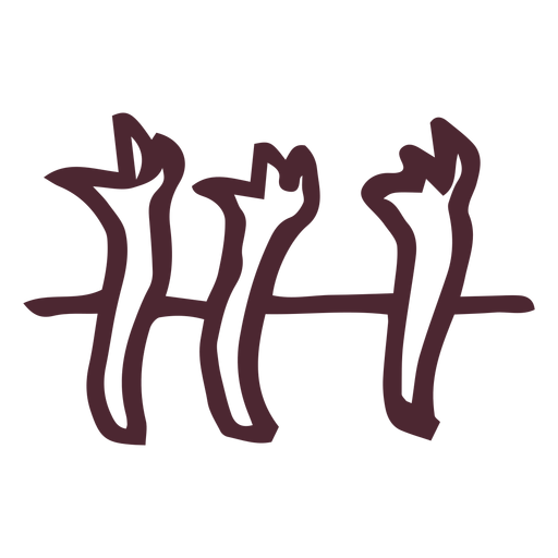 Ancient egypt hieroglyphics symbol symbol Transparent PNG