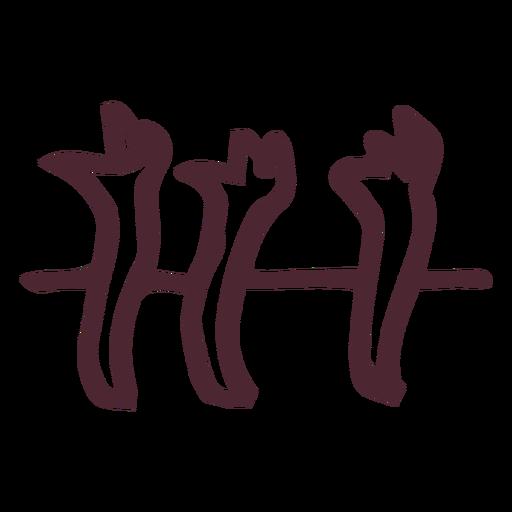 Ancient egypt hieroglyphics symbol symbol