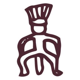 Ancient egypt man hieroglyphics symbol